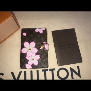 Authentic Louis Vuitton cherry blossom Card case